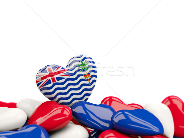 Heart with flag of british indian ocean territory Stock photo © MikhailMishchenko