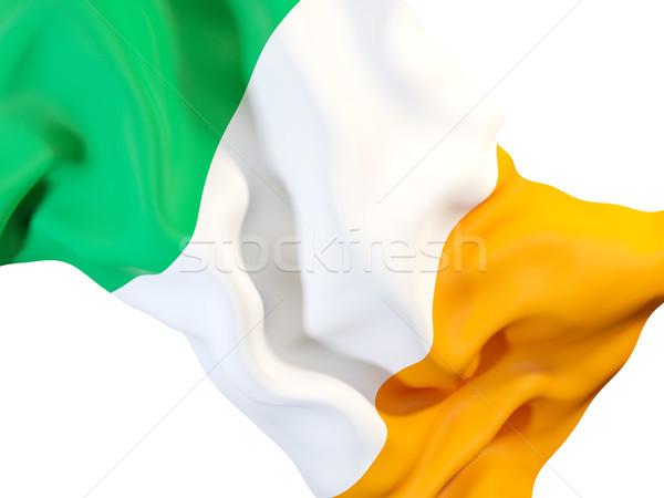 флаг Ирландия 3d иллюстрации ткань Сток-фото © MikhailMishchenko