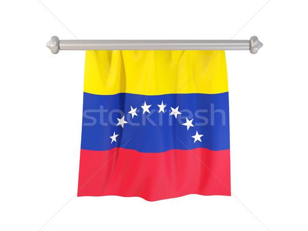 Zászló Venezuela izolált fehér 3d illusztráció címke Stock fotó © MikhailMishchenko