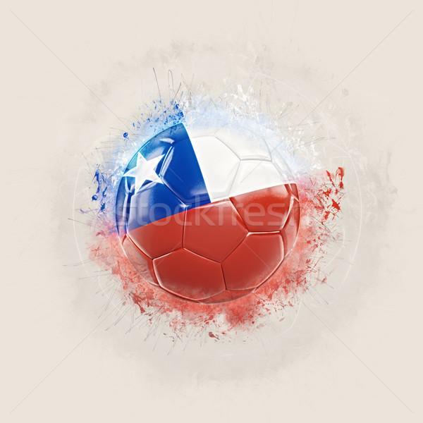 Grunge football with flag of chile Stock photo © MikhailMishchenko