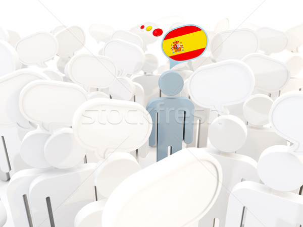 男 フラグ スペイン 群衆 3次元の図 白 ストックフォト © MikhailMishchenko