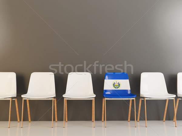 Chair with flag of el salvador Stock photo © MikhailMishchenko