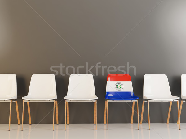 Chair with flag of paraguay Stock photo © MikhailMishchenko