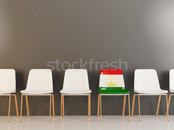Председатель флаг Таджикистан белый стульев Сток-фото © MikhailMishchenko