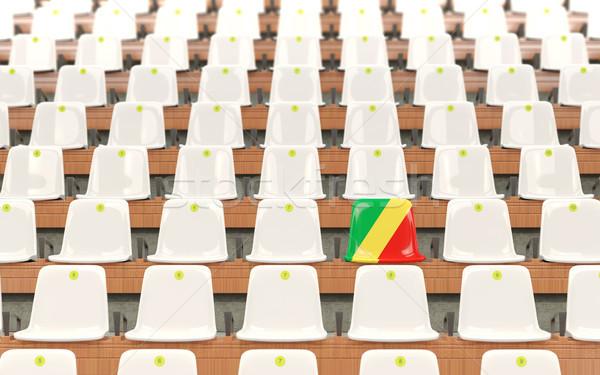 Stadium seat with flag of republic of the congo Stock photo © MikhailMishchenko