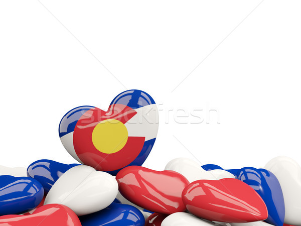 Heart shaped colorado state flag. United states local flags Stock photo © MikhailMishchenko