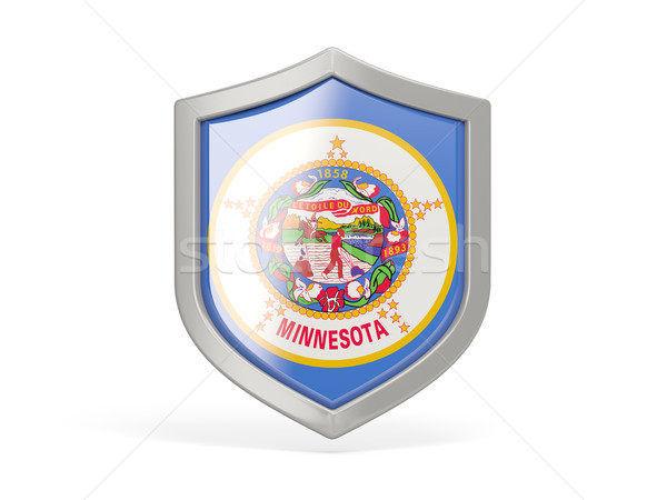 Shield icon with flag of minnesota. United states local flags Stock photo © MikhailMishchenko