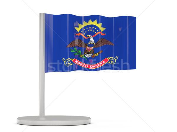 Bandiera pin Dakota del Nord Stati Uniti locale bandiere Foto d'archivio © MikhailMishchenko