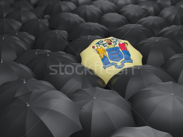 new jersey state flag on umbrella. United states local flags Stock photo © MikhailMishchenko