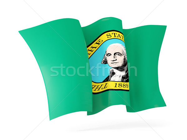 Washington bayrak ikon Amerika Birleşik Devletleri Stok fotoğraf © MikhailMishchenko