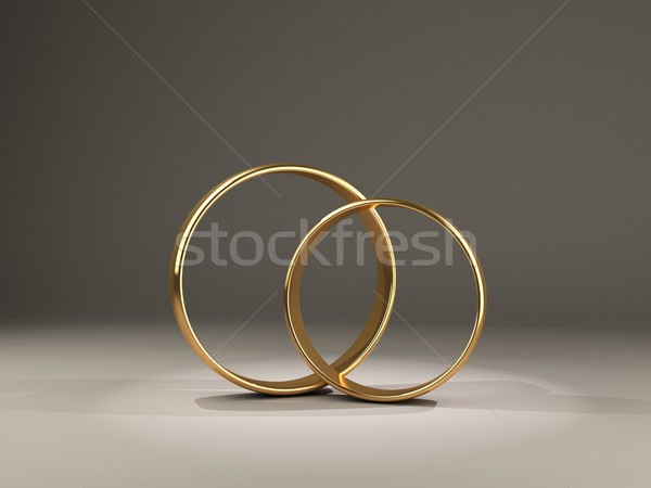 Two isolated rings Stock photo © MikhailMishchenko