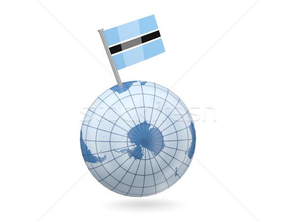 Globe with flag of botswana Stock photo © MikhailMishchenko