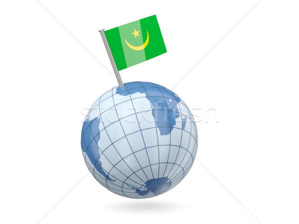 Globe with flag of mauritania Stock photo © MikhailMishchenko
