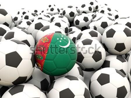 Futball zászló Banglades rendszeres golyók nyár Stock fotó © MikhailMishchenko