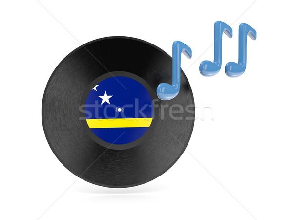 Vinyl disk with flag of curacao Stock photo © MikhailMishchenko