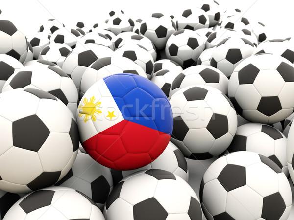 Voetbal vlag Filippijnen regelmatig zomer Stockfoto © MikhailMishchenko