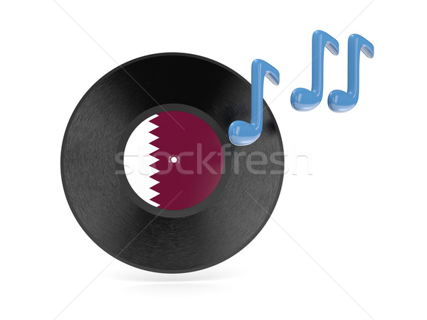 виниловых диск флаг Катар изолированный белый Сток-фото © MikhailMishchenko