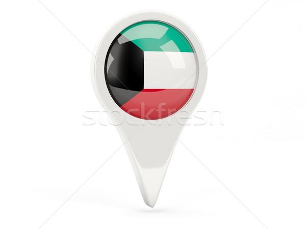 Round flag icon of kuwait Stock photo © MikhailMishchenko