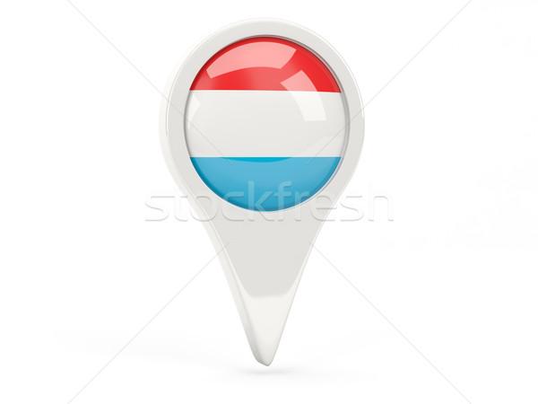 Round flag icon of luxembourg Stock photo © MikhailMishchenko