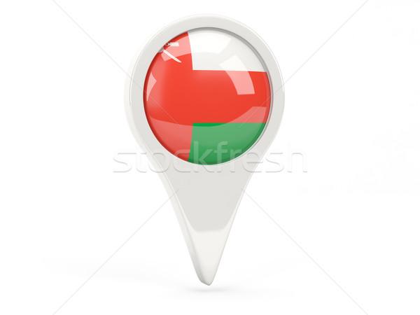 флаг икона Оман изолированный белый карта Сток-фото © MikhailMishchenko