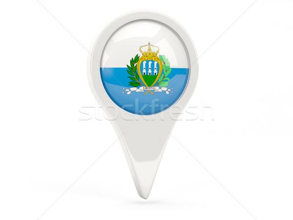 флаг икона Сан-Марино изолированный белый карта Сток-фото © MikhailMishchenko