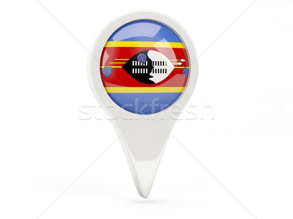 Banderą ikona Suazi odizolowany biały Pokaż Zdjęcia stock © MikhailMishchenko