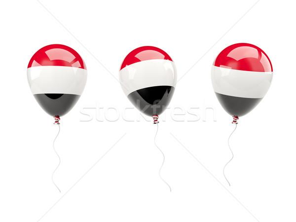 Ar balões bandeira Iémen isolado branco Foto stock © MikhailMishchenko