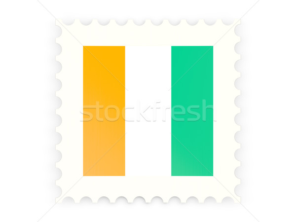 Postage stamp icon of cote d'Ivoire Stock photo © MikhailMishchenko