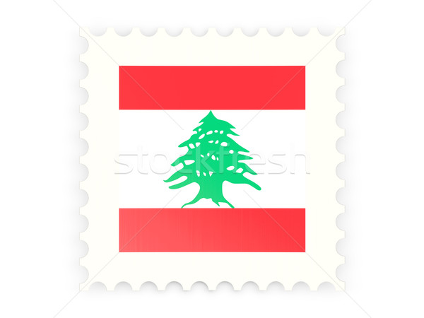 Postage stamp icon of lebanon Stock photo © MikhailMishchenko