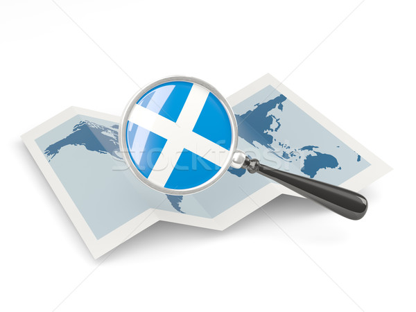 Magnified flag of scotland with map Stock photo © MikhailMishchenko