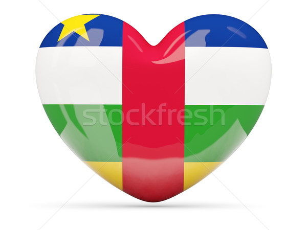 Heart shaped icon with flag of central african republic Stock photo © MikhailMishchenko