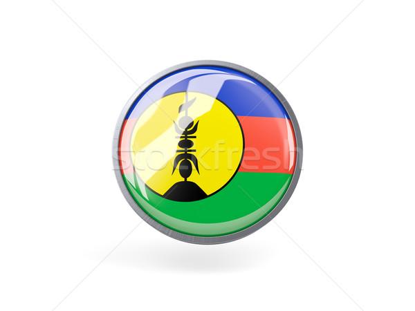 Round icon with flag of new caledonia Stock photo © MikhailMishchenko