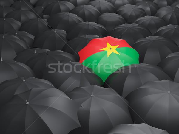 Umbrella with flag of burkina faso Stock photo © MikhailMishchenko