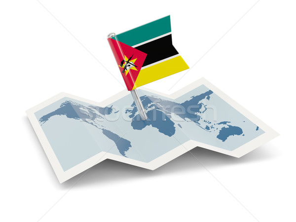 Map with flag of mozambique Stock photo © MikhailMishchenko