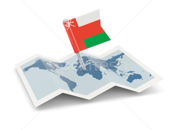 Harita bayrak Umman yalıtılmış beyaz Stok fotoğraf © MikhailMishchenko