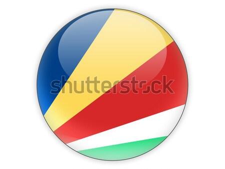 Round sticker with flag of democratic republic of the congo Stock photo © MikhailMishchenko