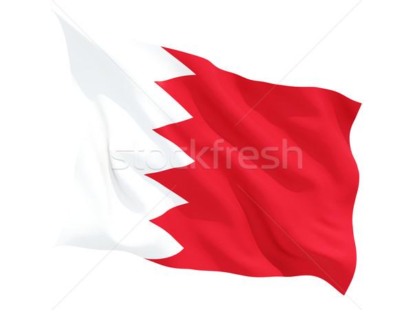 Bandeira Bahrein isolado branco Foto stock © MikhailMishchenko