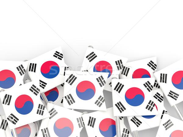 Flag pin of south korea Stock photo © MikhailMishchenko