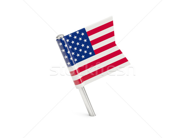 Flag pin of united states of america Stock photo © MikhailMishchenko