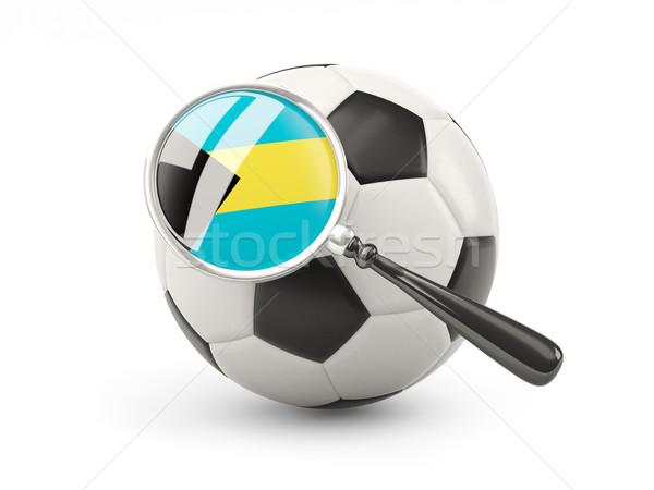 Futebol bandeira Bahamas isolado branco Foto stock © MikhailMishchenko