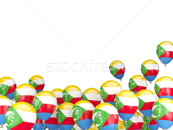 Flying balloons with flag of comoros Stock photo © MikhailMishchenko