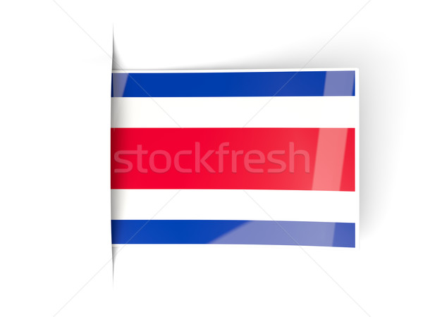 Square label with flag of costa rica Stock photo © MikhailMishchenko