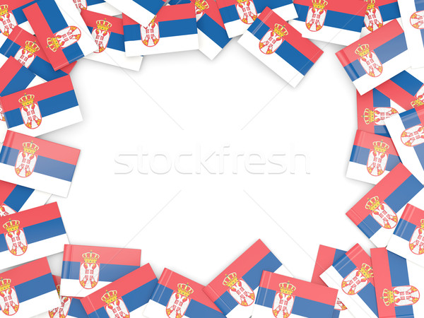 Frame with flag of serbia Stock photo © MikhailMishchenko