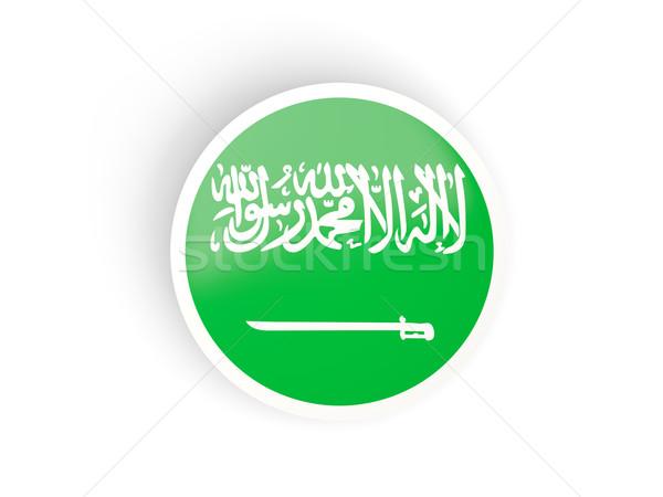 Round sticker with flag of saudi arabia Stock photo © MikhailMishchenko