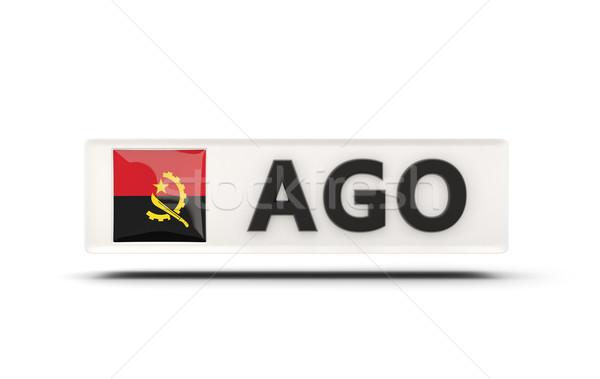 Kare ikon bayrak Tiftik dokuma iso kod Stok fotoğraf © MikhailMishchenko
