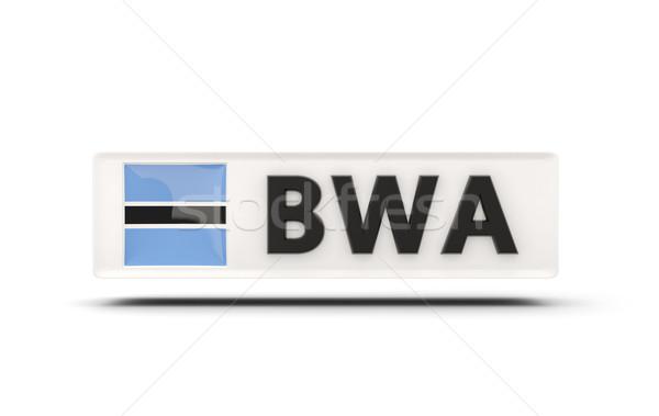Placu ikona banderą Botswana iso kodu Zdjęcia stock © MikhailMishchenko