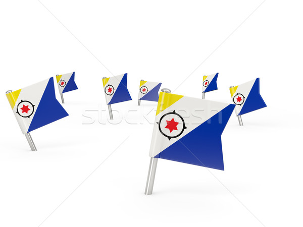 Square pins with flag of bonaire Stock photo © MikhailMishchenko