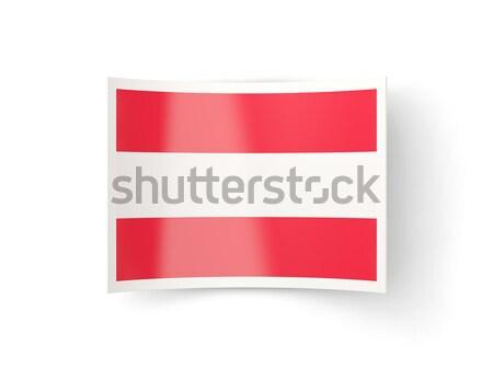 Bent icon with flag of austria Stock photo © MikhailMishchenko