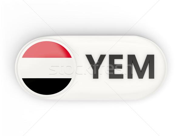 Ikon zászló Jemen iso kód vidék Stock fotó © MikhailMishchenko
