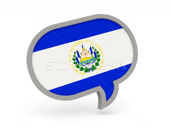 Conversar ícone bandeira El Salvador isolado branco Foto stock © MikhailMishchenko